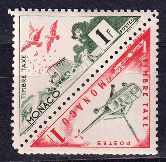 1953-1954 Монако. Доплатные марки. Транспорт [imp-14132] 1