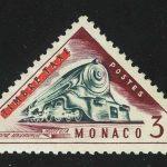 """1956. Монако. Из серии """"Транспорт - оплаченные почтовые марки 1953-1954 годов с аннулированием """"TIMBRE TAXE"""", * [13581]"""