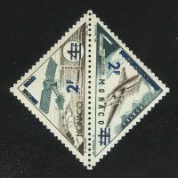 """1956. Монако. Сцепка из серии """"Транспорт - оплаченные почтовые марки 1953-1954 годов с аннулированием """"TIMBRE TAXE"""", * [13582]"""