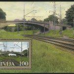 """2005. Латвия. Блок """"Мосты Латвии"""""""
