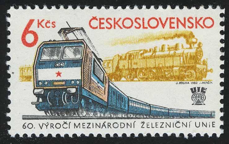 """1982. Чехословакия. """"60 лет Международному союзу железных дорог"""""""