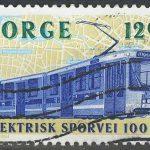 "1994. Норвегия. Серия ""100-летие электрических трамваев"""