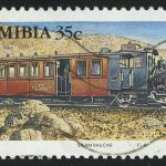 "1994. Намибия. Серия ""Паровозы, Steam Railcar, 1908"""