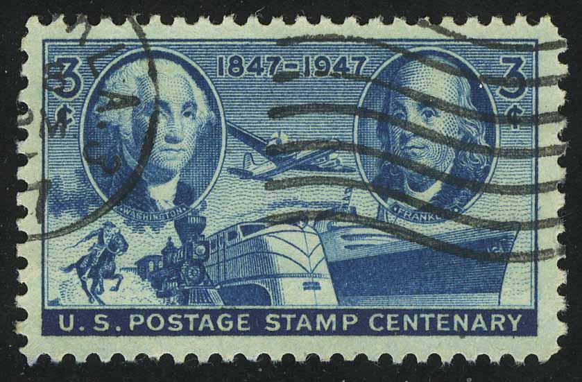 """1947. США. Серия """"100-летие почтовых марок США"""", 1/1, (•) [imp-13686]"""