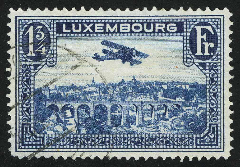 """1931. Люксембург. Серия """"Самолет Breguet"""", 1/4, (•) [imp-13772]"""