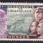 1953 Монако. 50 лет со дня открытия анафилаксии [imp-14137] 4