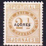 """1885  Азорские острова. Марка с надпечаткой """"Acores"""" черного цвета. [imp-14161] 5"""