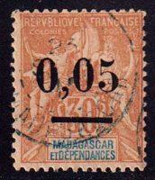 1902 Мадагаскар. Выпуск 1896 г. с надпечаткой [imp-14223_gt] 8
