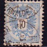 1883 Австрия. Герб, 10Kr. перф. 10 1/2 [imp-14232_gt] 2