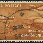 """1954. Индия. Серия """"100-летие индийских марок"""", 1/4, ** [imp-13808]"""