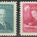 """1954. Канада. Серия """"Премьер-министры Канады"""", 2/2, ** [imp-13857] 2"""