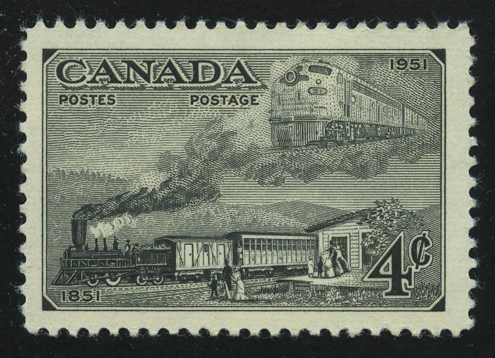 "1951. Канада. Серия ""100-летие канадских марок"", 1/4, * [CA261] 1"