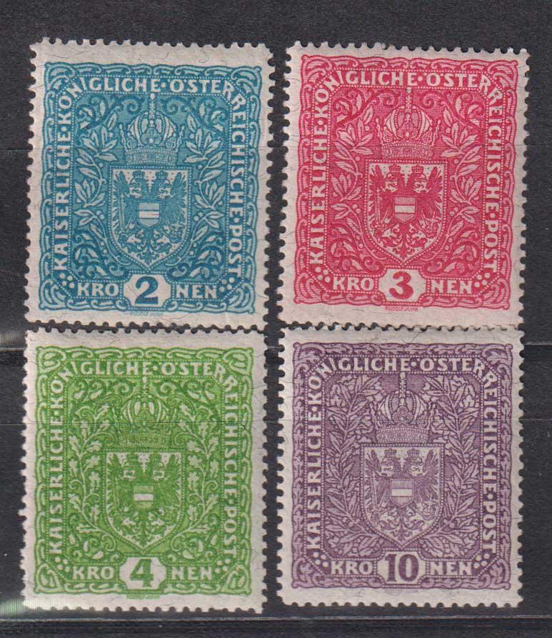 1917 Австрия. Герб. Размер изображения: 26 x 29 мм [imp-14267] 1