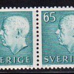 1971 Швеция. Король Густав VI Адольф. Пара [imp-14330] 4