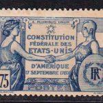 1937 Франция. 150 лет Конституции Соединенных Штатов. [imp-14349_gt] 2