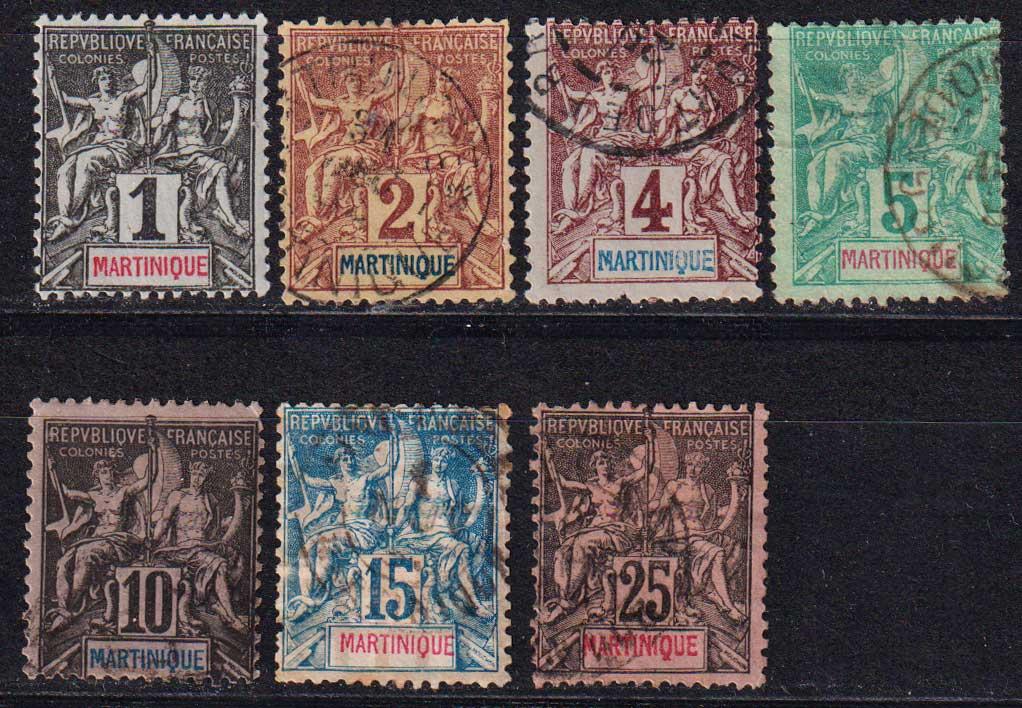 """1892 Мартиника. Надпись """"МАРТИНИК"""" красным или синим цветом [imp-14359_gt] 1"""