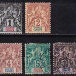 "1897 Гранд-Комор. Надпись: ""GRANDE COMORE"" - цветная бумага. [imp-14365_gt] 2"