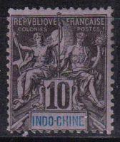 """1892-1896 Индокитай. Надпись: """"ИНДО-КИТАЙ"""" - Цветная бумага. [imp-14369_gt] 14"""