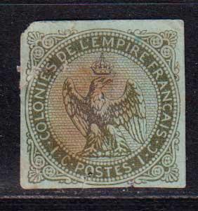 1859-1865 Французские Колонии, общий выпуск. Орел. 1с [imp-14378_gt] 1