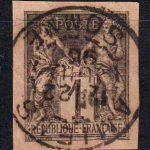 1859-1865 Французские Колонии, общий выпуск. Орел. 40с [imp-14382_gt] 4
