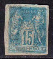 1877-1879 Французские Колонии, общий выпуск. Pax & Mercur. 15с [imp-14386_gt] 34
