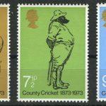 """1973. Великобритания. Серия """"100-летие крикета британского графства"""", 3/3, ** [13952]"""