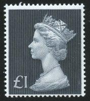 """1972. Великобритания. Выпуск """"Королева Елизавета II"""", 1£, 1/1, **, новый дизайн [13993] 17"""