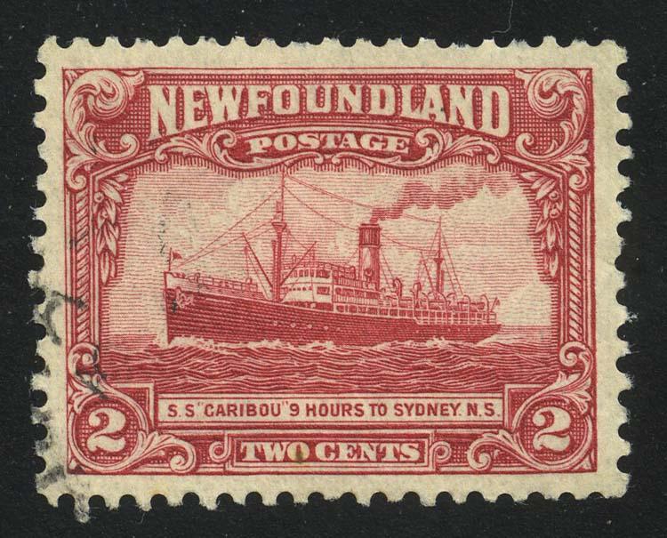 """1928. Ньюфаундленд. """"Пароход """"Карибу"""""""", (•) [15165] 1"""