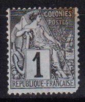 1881-1886 Французские Колонии, общий выпуск. Алфе Дюбуа - Цветная бумага. 1с [imp-14390_gt] 14