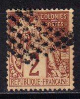 1881-1886 Французские Колонии, общий выпуск. Алфе Дюбуа - Цветная бумага. 2с [imp-14392_gt] 12