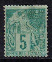 1881-1886 Французские Колонии, общий выпуск. Алфе Дюбуа - Цветная бумага. 5с [imp-14397_gt] 7