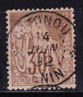 1881-1886 Французские Колонии, общий выпуск. Алфе Дюбуа - Цветная бумага. 30с [imp-14404_gt] 34