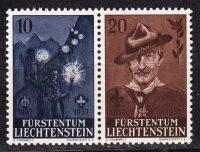 1957 Лихтенштейн. 50-летие скаутского движения и 100-летие со дня рождения Роберта Баден-Пауэлла 1857-1941 гг. [imp-14411] 7