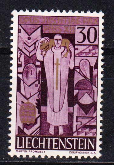 1959 Лихтенштейн. Смерть Папы Пия XII [imp-14417] 1