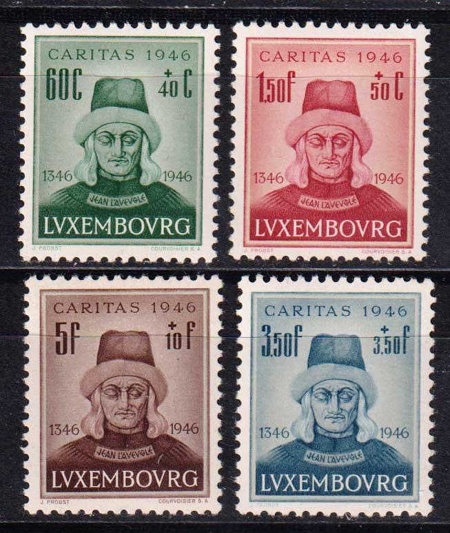 1946 Люксембург. 600 лет со дня смерти Иоанна Слепого из Богемии [imp-14444] 1