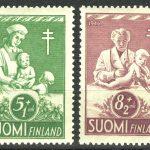 """1942. Финляндия. Серия """"Лев"""", 2/6, * / (•) [15217] 3"""