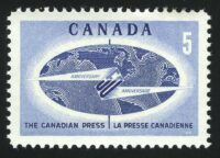 """1967. Канада. Выпуск """"50 лет канадской прессе"""", 1/1, ** [15234] 1"""