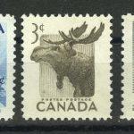 """1953. Канада. Серия """"Национальная неделя дикой природы. Alces alces"""", 1/3, с полем, ** [15260] 2"""