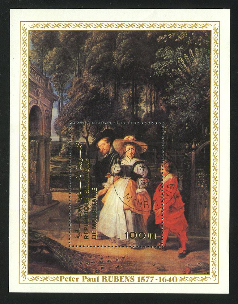 """1977. Мавритания. Блок """"400 лет со дня рождения Питера Пауля Рубенса, 1577-1640 гг."""", 93 x 116 mm, (//) [15386] 1"""