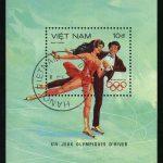 """1989. Вьетнам. Блок """"Фигурное катание"""", 100 x 65 mm, (//) [VN1197_1] + 2"""