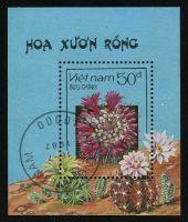 "1987. Вьетнам. Блок ""Цветущие кактусы"", 61 x 72 mm, (//) [VN1021_1] 28"