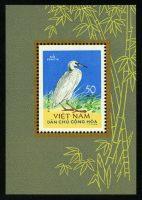 "1963. Северный Вьетнам. Блок ""Птицы. Тихоокеанская рифовая цапля (Egretta sacra)"", 64 x 93 mm, * [VN281_1] 18"