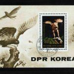 """1979. Северная Корея. Блок """"450-я годовщина смерти Альбрехта Дюрера. Картина """"Крыло птицы"""", 92 x 67 mm, (//) [KPD1913_1] 3"""