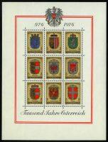 """1976. Австрия. Блок """"1000-летие Австрии 976-1976 гг."""", 135 x 180 mm, ** [AT1567‑1575] 22"""