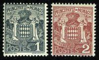 """1924. Монако. Серия """"Гербы"""", 2/5, * [MC73,74] 29"""