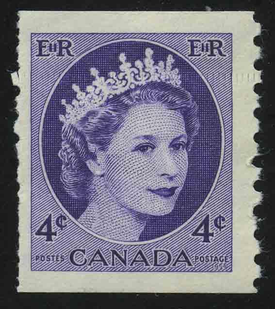 """1954. Канада. Серия """"Королева Елизавета II"""", 1/6, ** [CA288] 1"""
