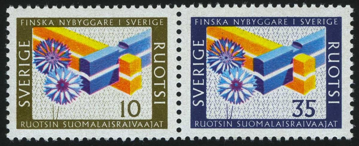 """1967. Швеция. Серия """"Финские поселенцы"""", 2/2, ** [SE586‑587] 1"""