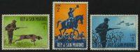 "1962. Сан-Марино. Серия ""Охота"", 3/10, ВЗ, * [SM748-750] 7"