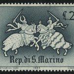 """1961. Сан-Марино. Серия """"Охота в 16-18 веках"""", 2/10, ВЗ, * [SM695,697] 2"""