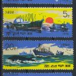 "1964. Северная Корея. Серия ""Рыбацкие лодки"", 2/4, (•) [KPD571-573] 2"
